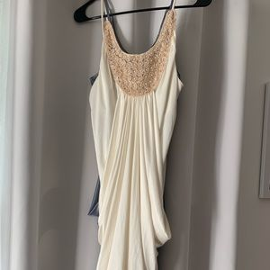 Charlotte Russe Grecian dress white cream